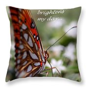 Butterfly Friendship Card Throw Pillow