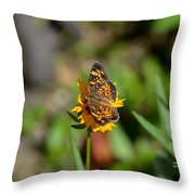Butterfly Gold Throw Pillow