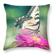 Butterfly Throw Pillow by Kim Fearheiley