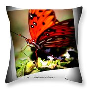 Butterfly Note Card Throw Pillow