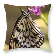 Butterfly On A Stem Throw Pillow