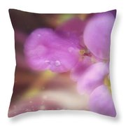 Butterfly Pea Wildflowers Throw Pillow