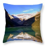 Butterfly Phenomenon At Lake Louise Throw Pillow