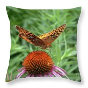 Butterfly Pitstop Throw Pillow