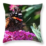 Butterfly Plant At Work Throw Pillow