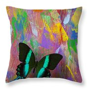 Butterfly Wall Throw Pillow