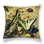 Butterlies At The Beach Throw Pillow