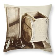 Buttermilk Churn 3540 Throw Pillow