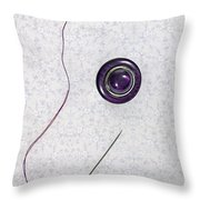 Button - Needle - Thread Throw Pillow