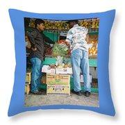 Buying Fruit Throw Pillow