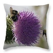 Buzz And Munch Throw Pillow