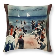 By The Beautiful Sea, 1914 Throw Pillow