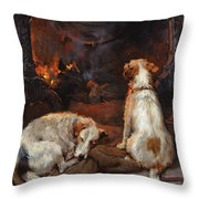 By The Hearth Throw Pillow