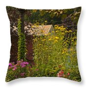 By The Light Of The Garden Throw Pillow