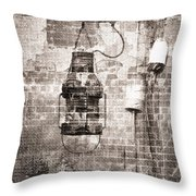 By The Sea In Brown Throw Pillow