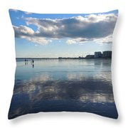 By The Sea In Maine Throw Pillow