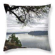 By The Still Waters Throw Pillow