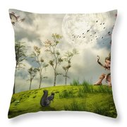 Bye For Now Throw Pillow
