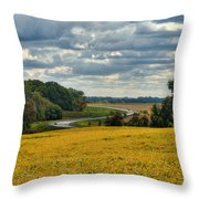 Bypass The Country Fields Throw Pillow