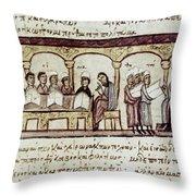 Byzantine Philosophy School Throw Pillow by Granger