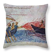 Byzantine Sailors  Throw Pillow