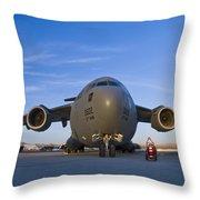C-17 At Sunset Throw Pillow
