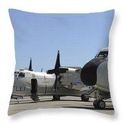 C-2a Greyhound Aircraft Start Throw Pillow