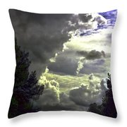 C Is For Clouds Throw Pillow