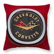 C1 Corvette Emblem Throw Pillow