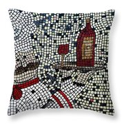 Cabaret Wine Throw Pillow