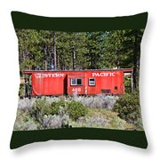 Cabin Car Throw Pillow