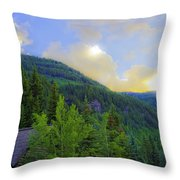Cabin On The Mountain - Vail Throw Pillow