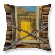 Cabin Windows Throw Pillow