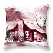 Cabin2 Throw Pillow