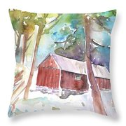 Cabine In The Troodos Mountains Throw Pillow