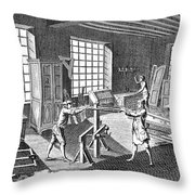 Cabinetmakers Workshop Throw Pillow