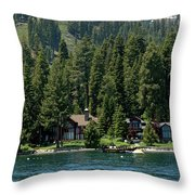 Cabins On The Lake Tahoe Throw Pillow