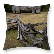 Cable Mill Barn In Cade's Cove No.123 Throw Pillow