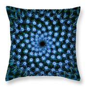 Cacti Blues Throw Pillow