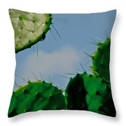 Cacti Junkie Throw Pillow