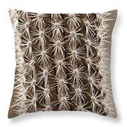 Cactus 19 Sepia Throw Pillow