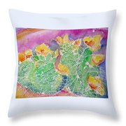 Cactus Color Throw Pillow