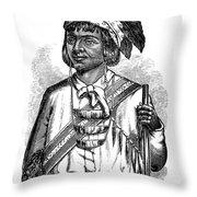 Caddo Chief, 1879 Throw Pillow