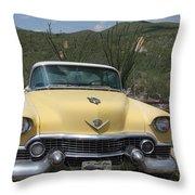 Caddy In The Desert Throw Pillow