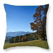 Cades Cove Landscape Throw Pillow