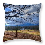 Cades Cove Lane Throw Pillow