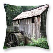 Cade's Grist Mill Throw Pillow by Barry Jones