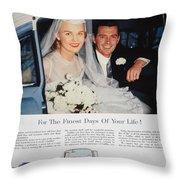 Cadillac Ad, 1955 Throw Pillow