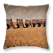 Cadillac Graveyard - Impressions Throw Pillow