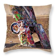 Cadillac Graveyard II - Impressions Throw Pillow